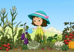 garden clipart cartoon