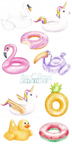 pool clipart flamingo
