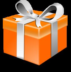 gift clipart orange