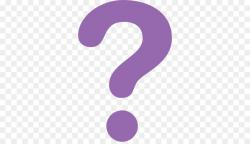 question mark transparent purple
