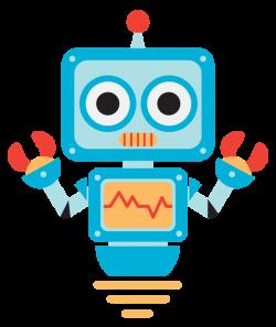 robot clipart kawaii