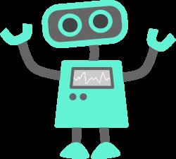 robot clipart happy