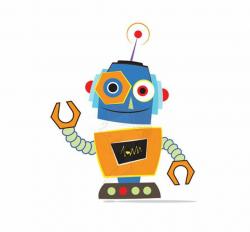 robot clipart cute