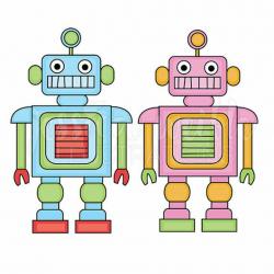 robot clipart pink