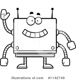 robot clipart square