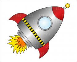rocket clipart alien