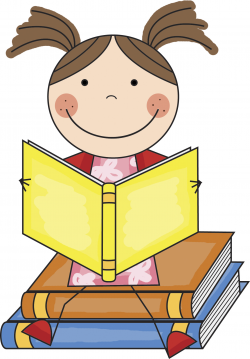 student clipart reading