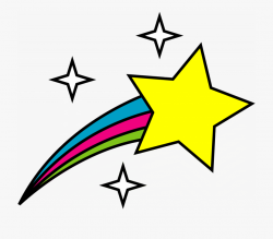 shooting star clipart glitter