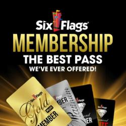 six flags logo flash pass