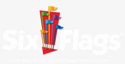 six flags logo transparent