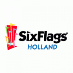 six flags logo vector