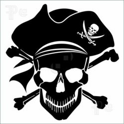 pirate clip art skull