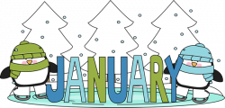 january clipart banner