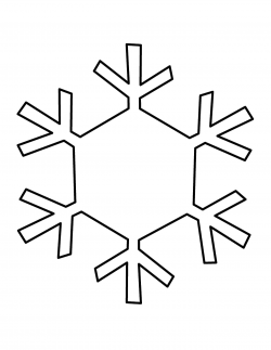 snowflake clipart black and white small