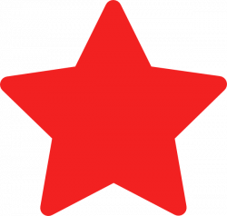 star transparent red