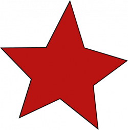 star clipart red