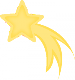 shooting star clipart falling