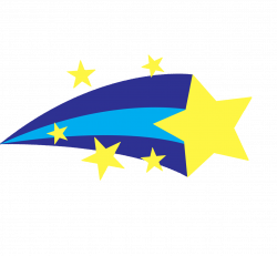 shooting star clipart vector