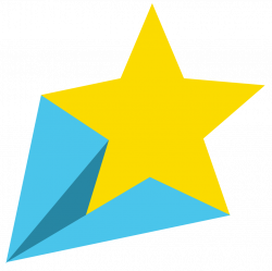 shooting star clipart simple