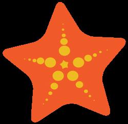 starfish clipart orange