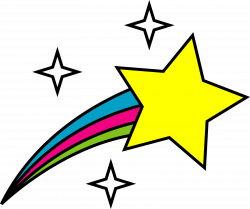 shooting star clipart realistic