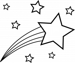 shooting star clipart colorful