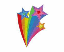 shooting star clipart rainbow