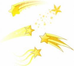 shooting star clipart yellow