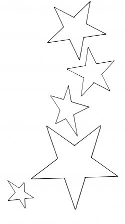 star clipart black and white shooting