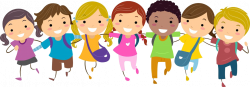 student clipart walking