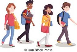 walk clipart student