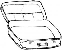 suitcase clipart open