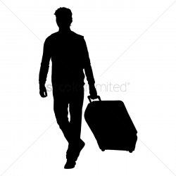 person silhouette clipart briefcasewalking vector png