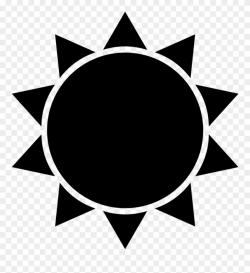 clipart sun silhouette
