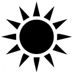 sun clipart silhouette