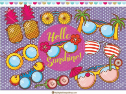 glasses clipart colorful