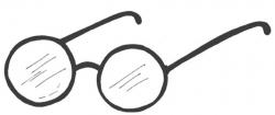 glasses clipart round