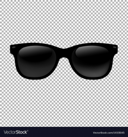 glasses transparent vector