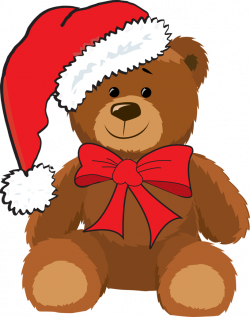 teddy bear clipart christmas