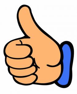 thumbs up clipart orange