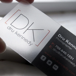 transparent business cards pvc