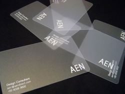 transparent business cards design