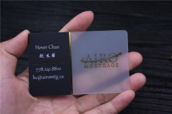 transparent business cards gold