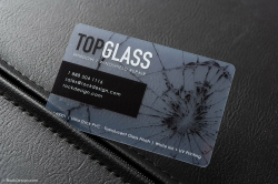 transparent business cards modern