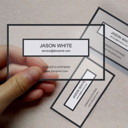 transparent business cards vistaprint