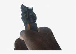transparent gun first person