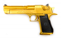 transparent gun gold