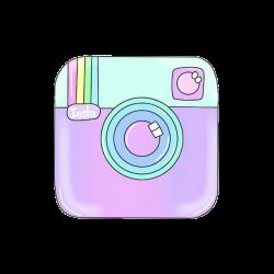 instagram transparent logo pastel