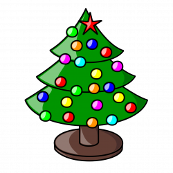 Tree clipart christmas floral