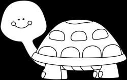 turtle clipart white